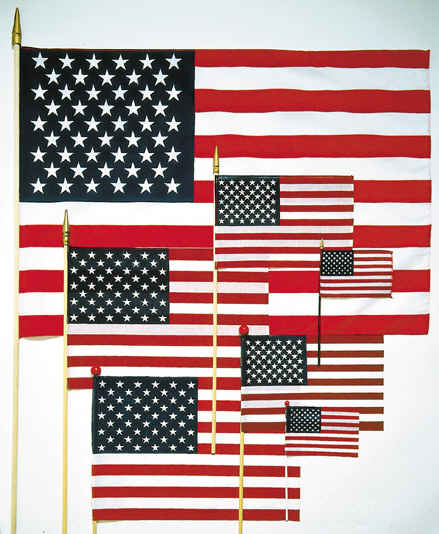 cd85acf008e7 Foothills Flags and Poles offers a complete line of hand-held American  flags mounted on a stick or staff. These hand held US flags on a stick are  great for ...